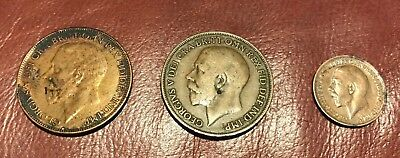 Great Britain Vintage Coins Circulated, Ungraded