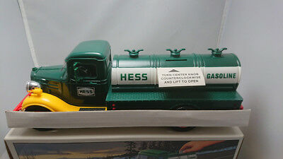 Vintage 1985 First Hess Truck Toy Bank New in Box