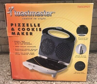 NEW Toastmaster Pizzelle Cookie Maker Iron Press Machine Christmas Italian