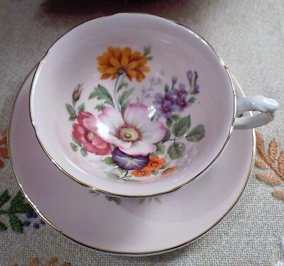 Royal Grafton Fine Bone China Made In England Creamy Pastel Pink Cup & Saucer