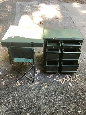 Hardigg Portable Military Field Desk With Chair