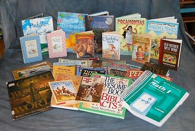 1st Grade Lot of Home School books Charlotte Mason, Higher Up Further In,