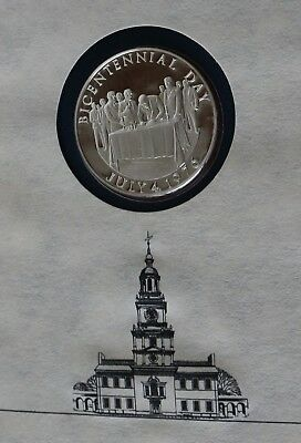 The Official Bicentennial Day Commemorative Medal July 4th 1976 Silver Coin