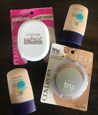 Mixed Lot 4 Covergirl Foundation Powder TruBlend Ready Set Gorgeous CG Smoothers