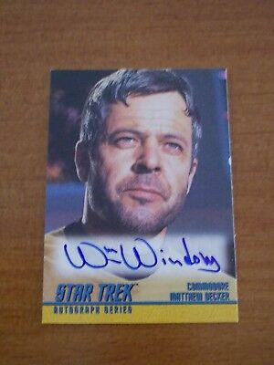 STAR TREK TOS Series 2 William Windom Autograph Card A39 SKYBOX 1998, Doomsday