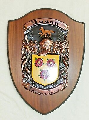 Young Family Crest Custom Coat of Arms Hanging Wall Shield Always Young Wolf