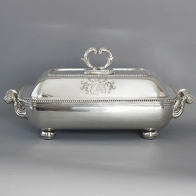 A Very Fine Large Silver Entree Dish and Warmer London 1814 by Thomas Robins