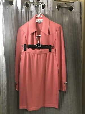 ST JOHN EVENING By MARIE GRAY Pink 2 piece Top with Skirt both Size 2