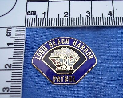 Long Beach Harbor Patrol Police Pin California Clutch Back