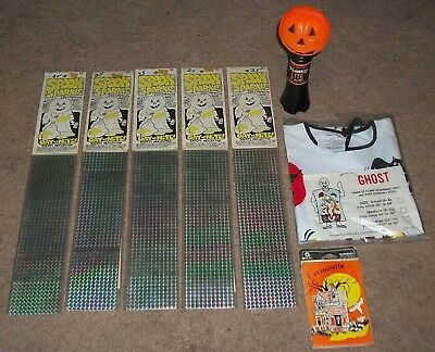"""VINTAGE 60s-70s NOS COLLEGEVILLE COSTUME """"GHOST"""",BLINKY LITE,SPOOK SPARKLE +"""