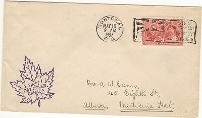 Canada First Day Covers- 1937 - Coronation His Majesty King George Vi