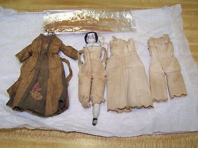 Antique DOLL, with ORIGINAL 1860s style CLOTHING, CIVIL WAR PERIOD