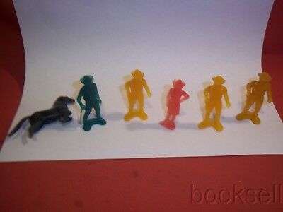 Original Lot Of Six 1950S Sp Sky King Figures From Nabisco Cereal Premiums