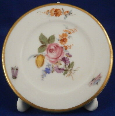 Antique Meissen Porcelain Plate in Stand Place Card Holder Porzellan Platzhalter