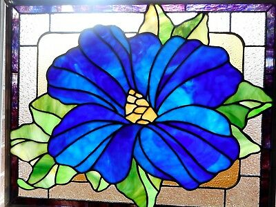 """Mellow Mallow"" Stained Glass Window Panel Hanging - 21 5/8"" x 16 5/8"""