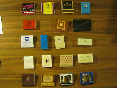 Very Rare And Vintage Match Boxes/books    The Hilton Hotels