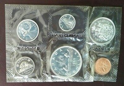 1966 Canada Silver Proof Like Set Sealed. Issued By The Royal Canadian Mint