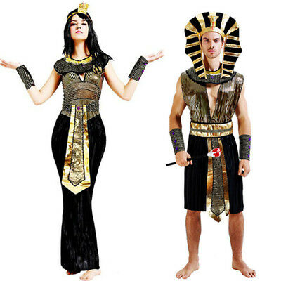 Halloween Exotic Egyptian Pharaoh Costumes  Men Adult Costume Women Cleopatra