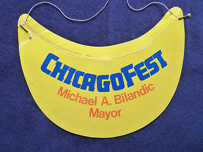 Vintage 1978 Chicago Fest Visor Mayor Michael Bilandic Convention Visitor Bureau