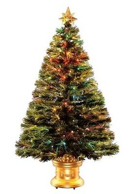 Celebrations 36 Fiber Optic Radiance Fireworks Tree with Gold Top Star 36 in.