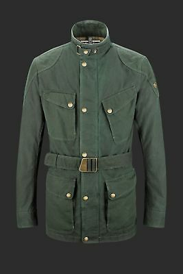 NEW Matchless Streetfarer UK Green Waxed Cotton Motorcycle Jacket M / L Barbour