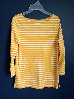 53b1d12c08 NEW WOMEN'S OLD Navy Button-Up Shirt Mustard Yellow Striped Blue ...