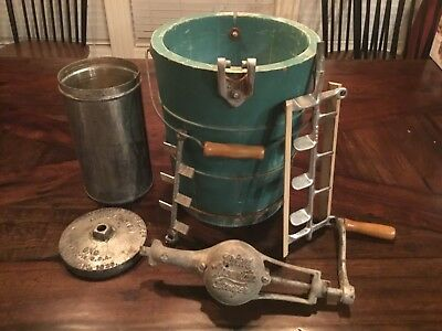 White Mountain Triple Motion Hand Crank Ice Cream Freezer Vintage June 12, 1923