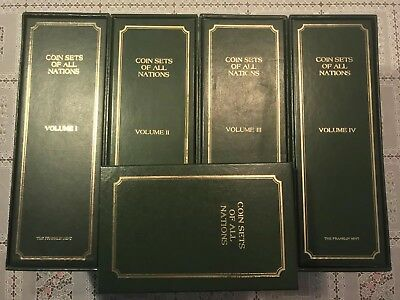 Complete 4-Volume Coin Set Of All Nations  With Stamps Mint - Franklin Mint!!!