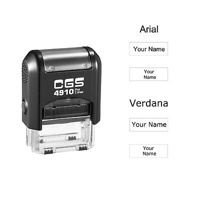 CGS Custom Name Rubber Stamp Self Inking Personalized Signature Rubber Stamp