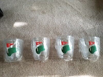 Vintage Set of 4 Insulated Leisure Time Golf-19th Hole-Tumblers-NEW, in orig box