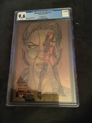 Witchblade / Tomb Raider # 1 CGC 9.6 Speckle Holofoil Edition
