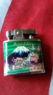 Vintage Souvenir Cigarette Lighter, Memory of Japan, Aurora's Ronson Type No1.