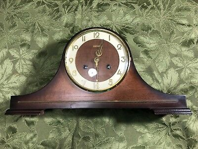 Vintage Necor 1970s'31 Day Wall Hanging Chiming Clock  Wind with Key Works Great