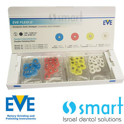 Dental Finishing Polishing discs composite porcelain metal EVE Flexi-d set 10mm