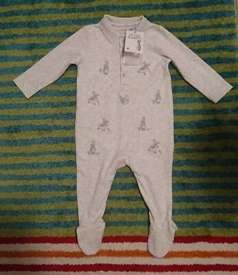 Peter Rabbit Mothercare Boys/girls/unisex embroidered Sleepsuit 6-9 Months BNWT