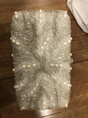 Roman & French Uttam bridal clutch customised with pearls like new