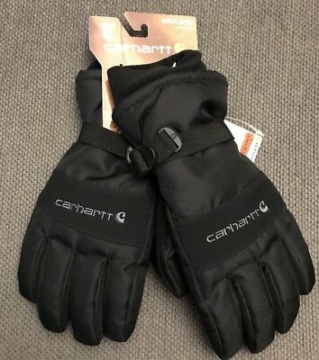 Men's Carhartt A511 Warm Waterproof Insulated Cold Weather Gloves M Black WIP