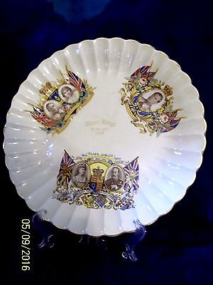 "1936""three Kings In One Year""  Kings George V & Vi & Edward Viii Fluted  Plate"