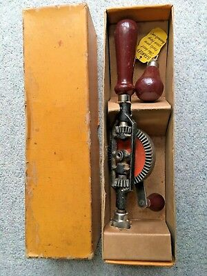 Vintage Stanley No.803 Hand Drill.  New still in Box.  Made in England.