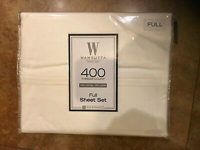 New Wamsutta Full sheet set 400 Thread Count Unopened 100% Cotton