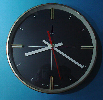 """Vintage Metamec 8"""" Wall Clock Converted To Modern Battery Movement"""