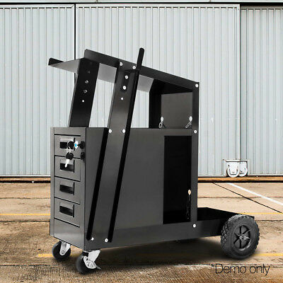 Giantz Welder Cart Welding Trolley MIG TIG ARC Plasma Cutter Bench Drawer @SAV