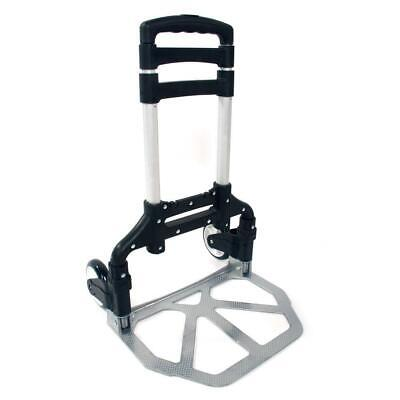 New 170lbs Practical Folding Collapsible Aluminum Cart Dolly Push Truck Trolley