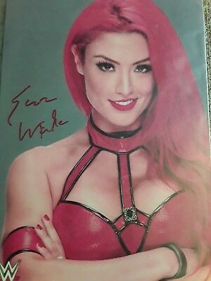 WWE All Red is Everything Eva Marie Handsigniertes Signed Autogramm Großfoto