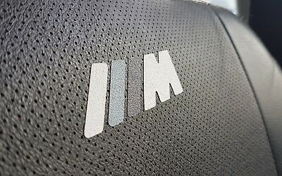 BMW M Sport Power Performance Sticker Badge Decals For Seats | Headrest | Mats |