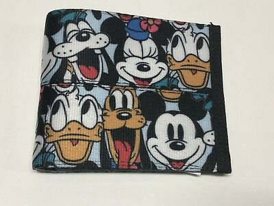 Disney Harvey's Seatbelt BFF Fab 5 Mickey Minnie Boyfriend Men's Wallet SIGNED
