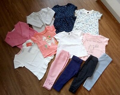 Girls Clothing Bundle Size 12-18 Months Next Gap Tu Leggings Cardigan Tops Dress