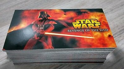 Star Wars Revenge Of The Sith Widevision Complete Base Card Set