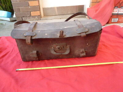 Vintage Leather Equipment  Carry Case. Irval Real Hide  Display  Prop