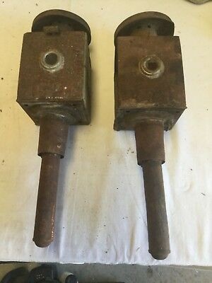 Antique pair of restora buggy lamps